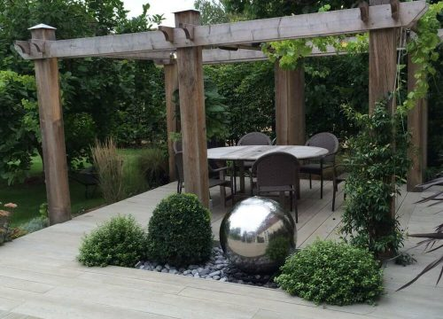 Outdoor Living - Pergola & Water Feature