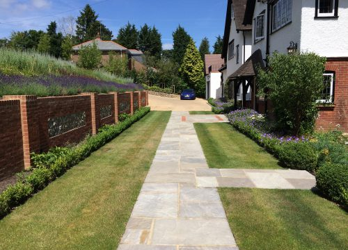 Front Garden - Turfing and Paving