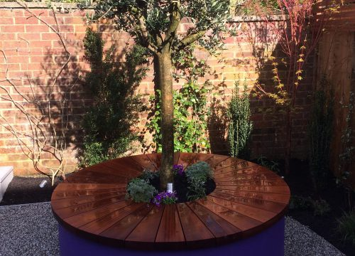 Landscape Construction - Purple Tree Planter
