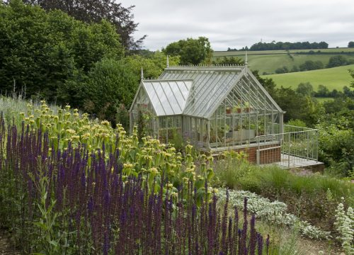 Country Garden Design - with Greenhouse
